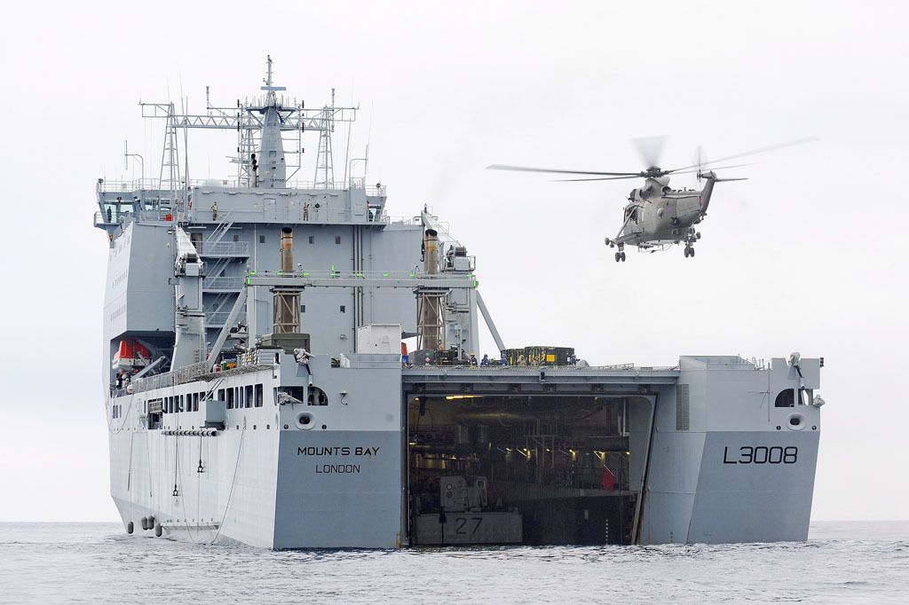 Royal Fleet Auxiliary Mounts Bay