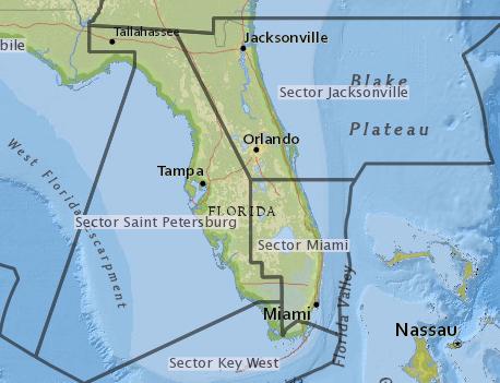 USCG Sector Irma Map