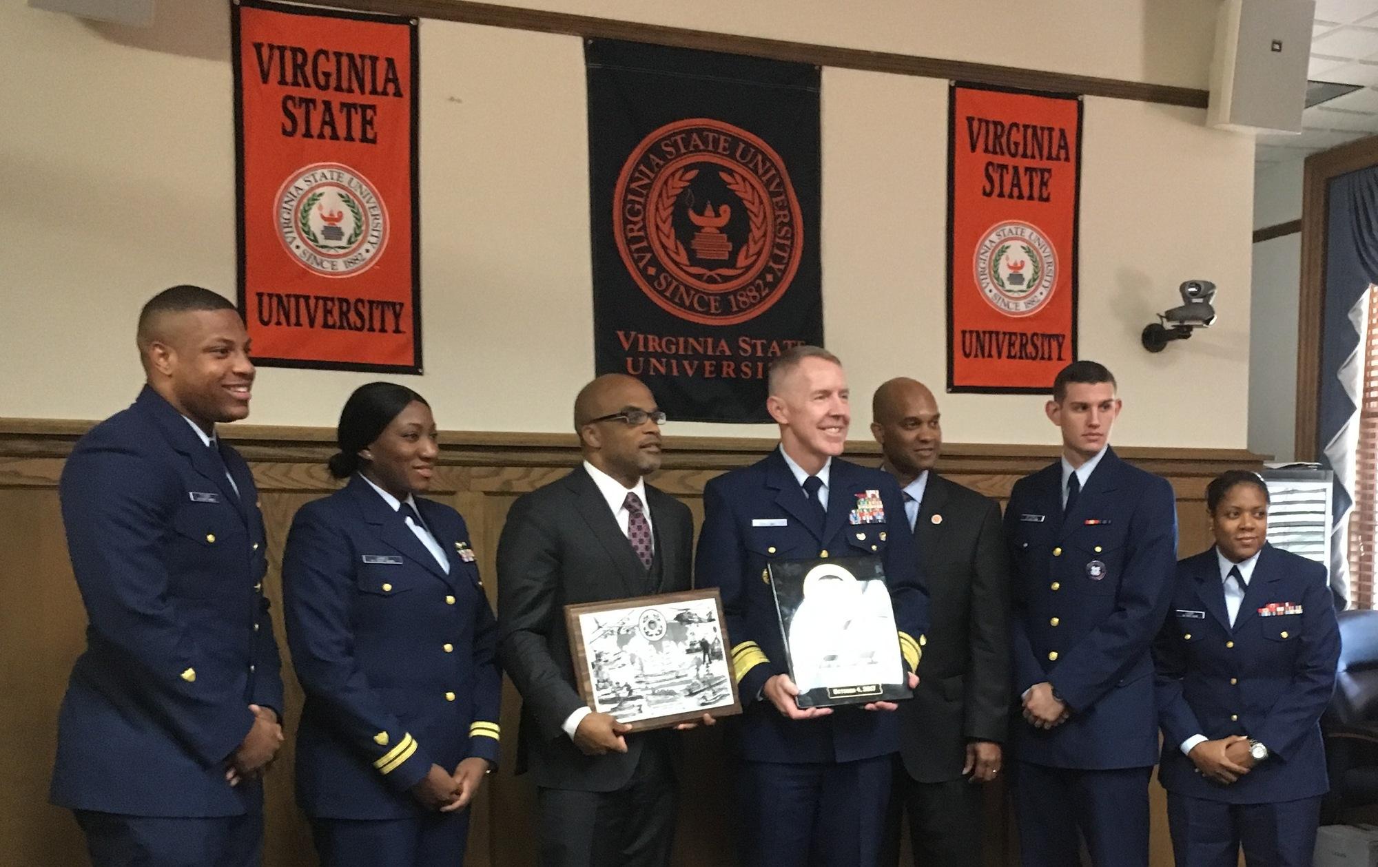 U.S. Coast Guard signs memorandum of agreement with Virginia State University as part of Minority-Serving Insititutions Partnership Program
