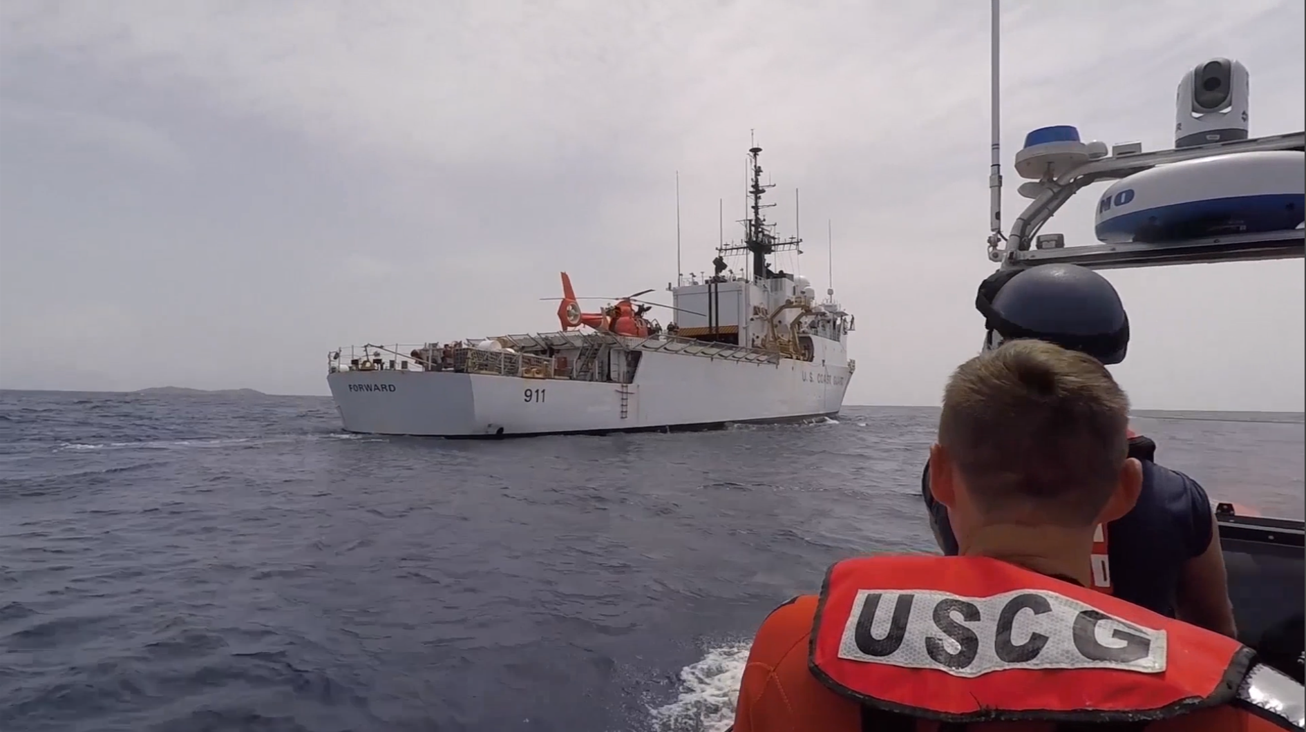 Video Release: Coast Guard Cutter Forward responds to hurricanes