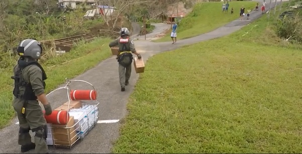Coast Guard aircrew delivers FEMA aid to Hurricane Maria-impacted Puerto Ricans