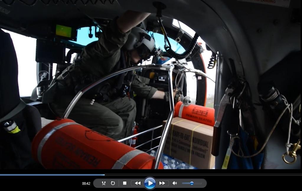 Coast Guard lowers FEMA aid to people in Jayuya, Puerto Rico