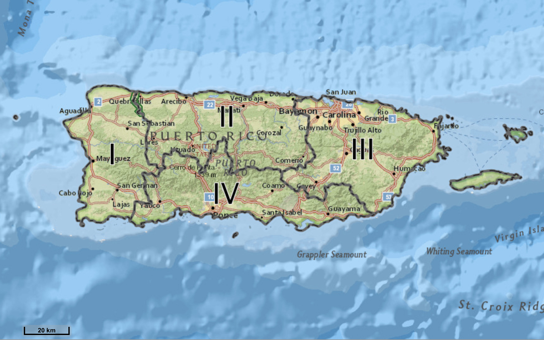 Hurricane Maria ESF-10 PR Operational Branch Map