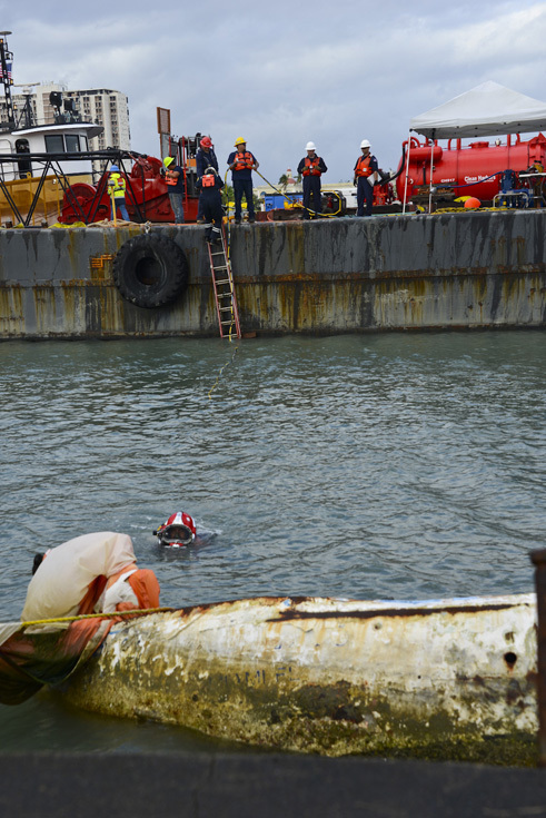 Crews accelerate vessel salvage operations in Puerto Rico after Hurricane Maria