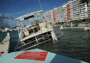 Hurricane Maria response team assesses damaged vessels, environmental concerns in Isleta Marina, Puerto Rico