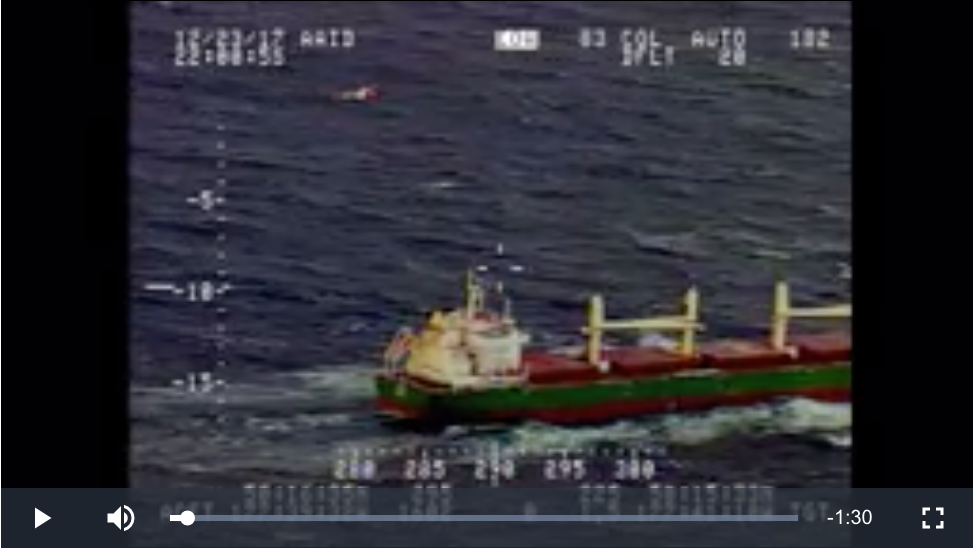 Coast Guard medevacs mariner from a 652-foot vessel near Adak, Alaska