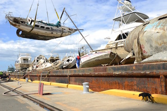 Photo Release: ESF-10 Hurricane Maria Response crews transition storm-impacted vessels in Port of Ponce, Puerto Rico