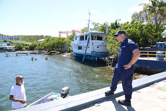 ESF-10 Hurricane Maria Response crews conduct vessel owner outreach and boat removal assessments in Culebra, Puerto Rico