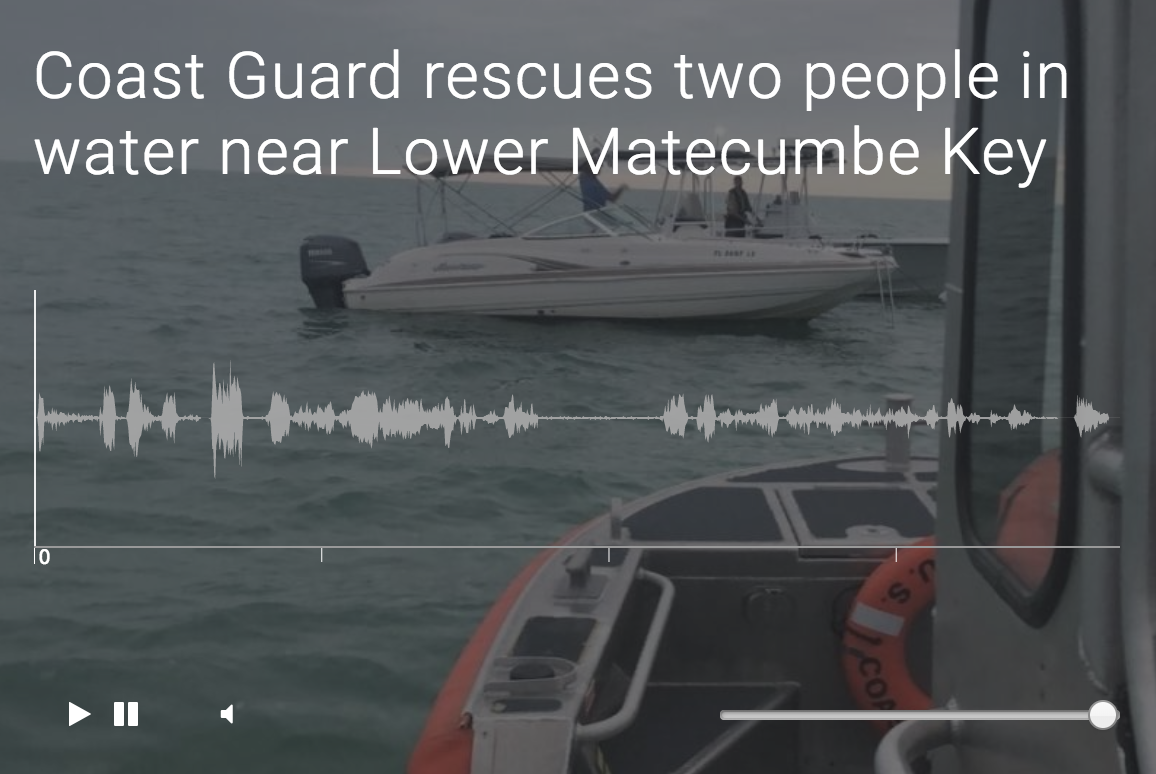 Coast Guard rescues two people in water near Lower Matecumbe Key
