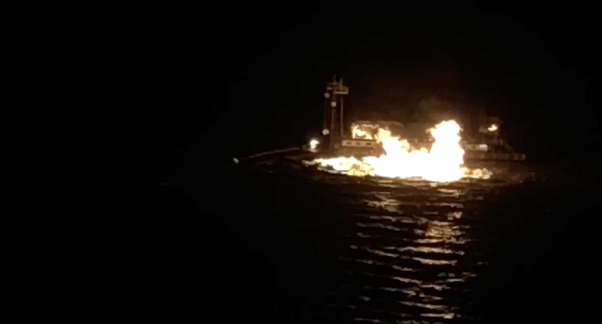 Coast Guard responds to gas pipeline fire near Port O'Connor, Texas