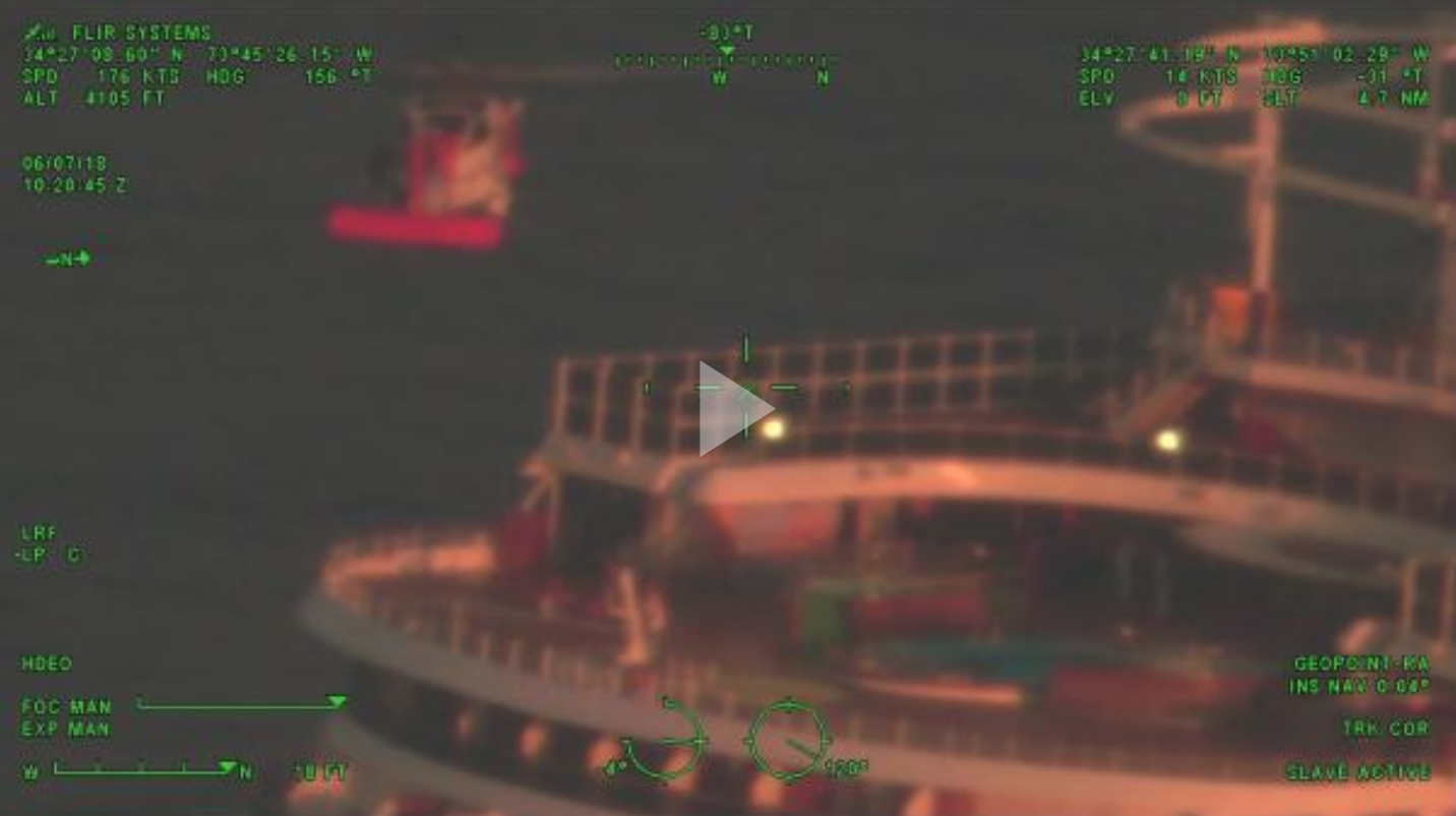 Coast Guard medevacs cruise ship passenger 100 miles east of Cape Hatteras, NC