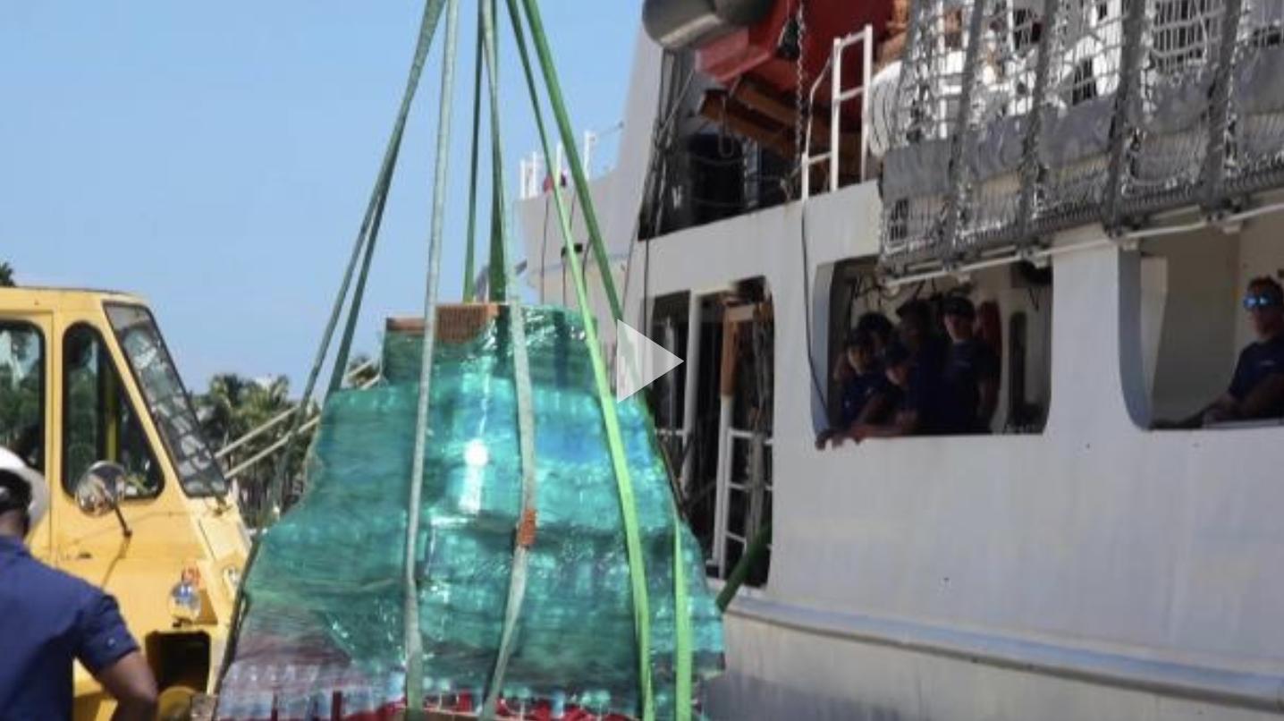 VIDEO RELEASE: Coast Guard CutterDiligence gathers Hurricane Florence relief supplies