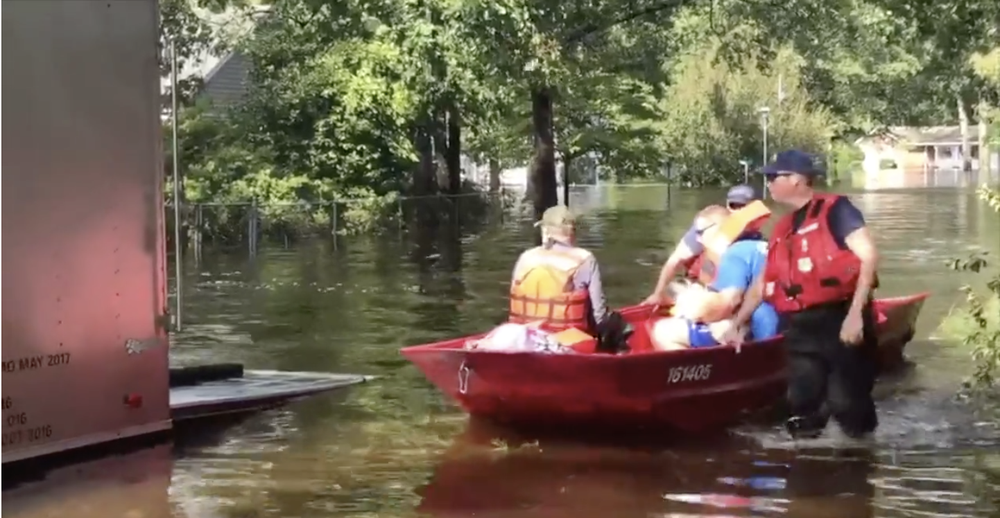 VIDEO RELEASE: Coast Guard rescues families, pets near Lumberton, N.C.