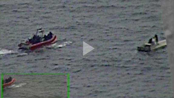 Coast Guard Cutter Stratton interdiction B-roll