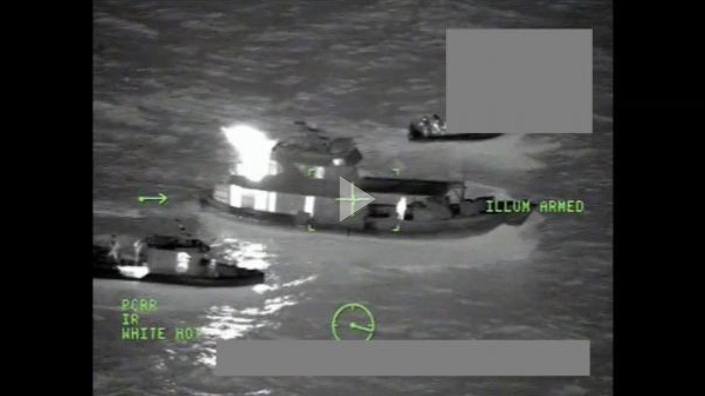 Boatcrews from the Coast Guard Cutter James (WMSL-754) interdict different suspected drug smuggling vessels in international waters in the Eastern Pacific Ocean.