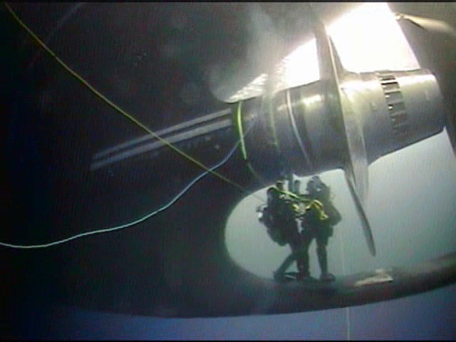 Coast Guard divers repair shaft seal