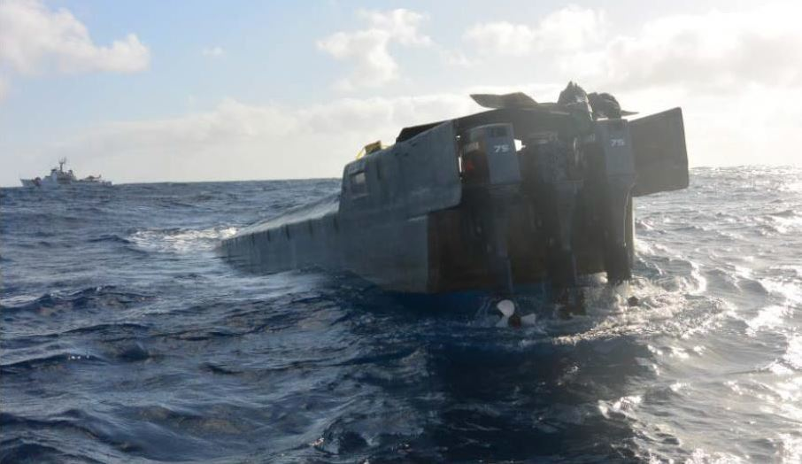 Coast Guard Cutter Alert boarding team interdicts low-profile go-fast vessel suspected of smuggling illicit narcotics