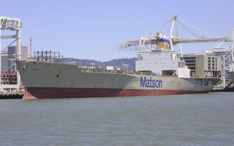 Matsonia container ship at Matson Terminal