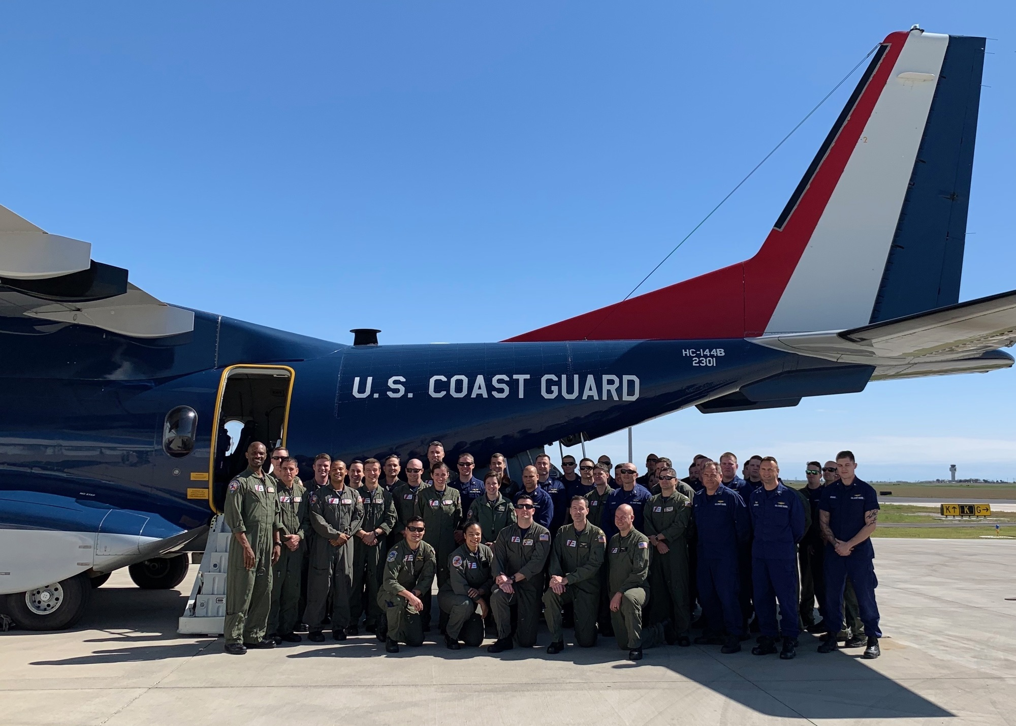 Coast Guard Sector/Air Station Corpus Christi receives upgraded HC-144 in Texas