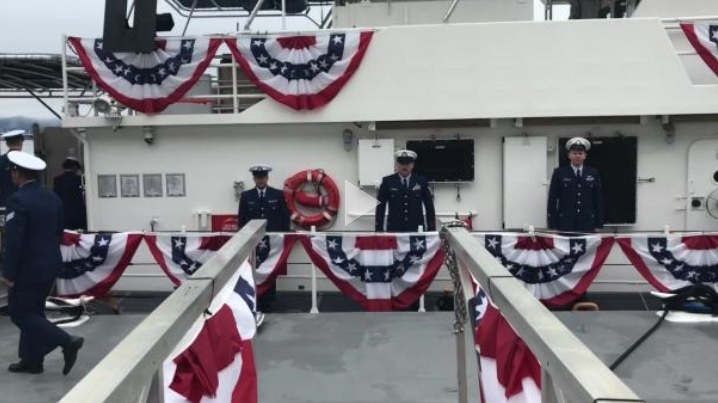 B-roll video for Coast Guard Cutter Robert Ward commissioning ceremony