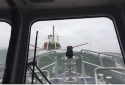 Coast Guard crews rescues 2 from sinking vessel near Fishers Island