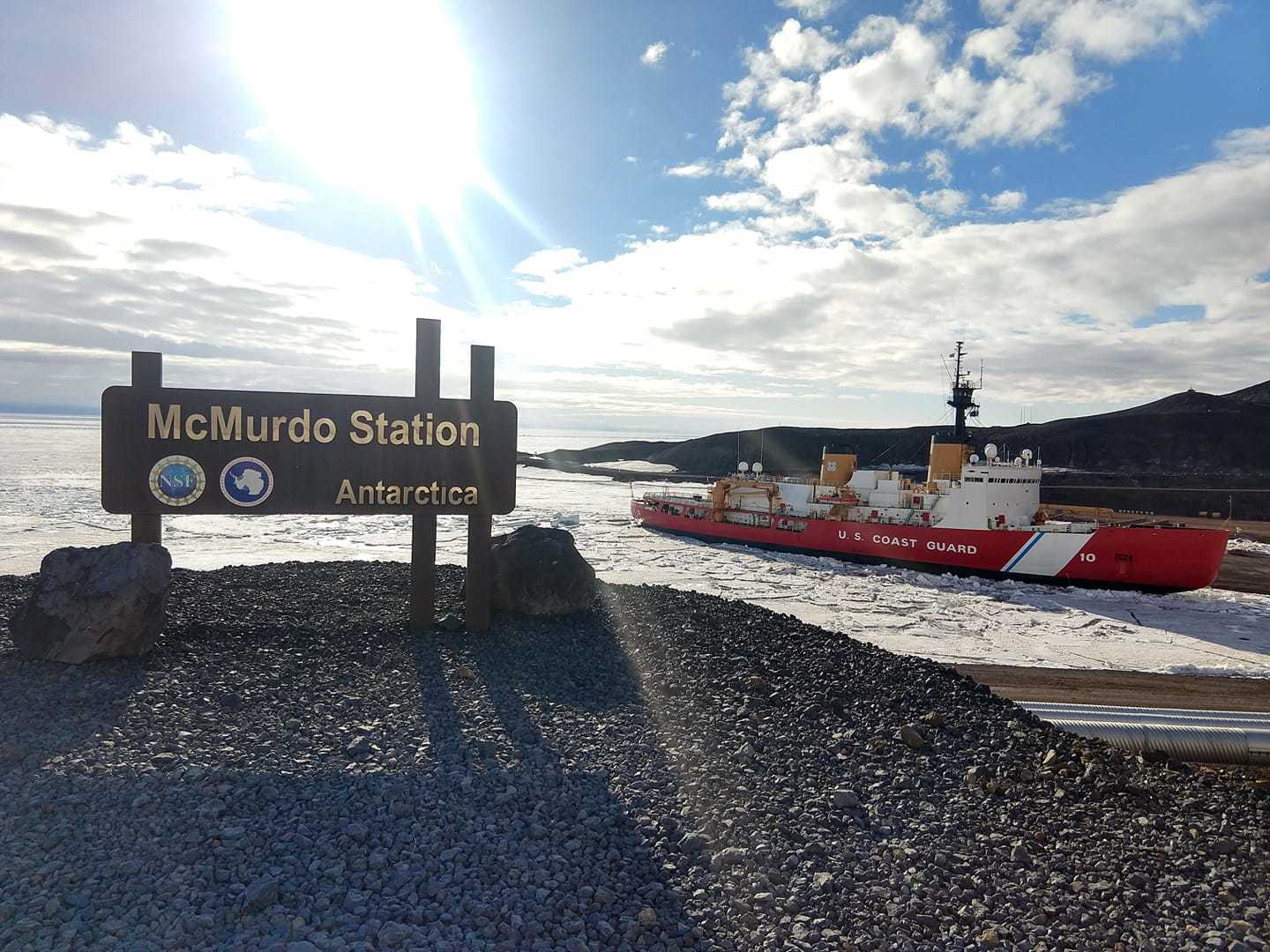 Coast Guard Cutter Polar Star at McMurdo Station