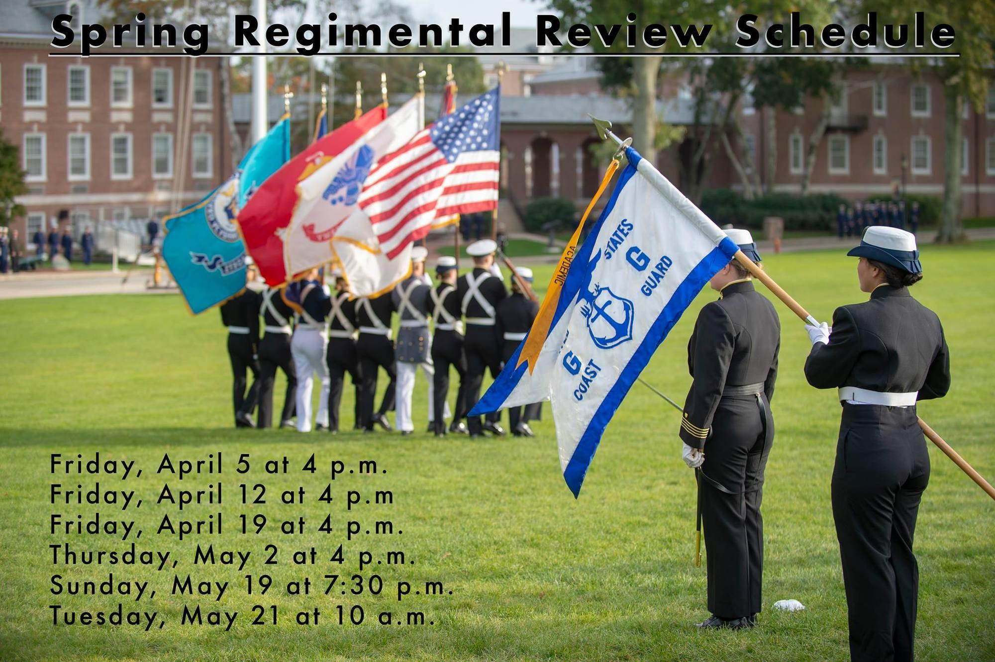 CGA Spring Regimental Review Schedule