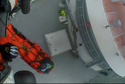 VIDEO AVAILABLE: Coast Guard medevacs man from fishing vessel northeast of St. Paul, Alaska