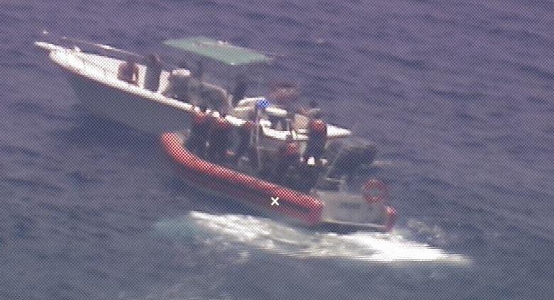PHOTO RELEASE: Coast Guard Interdicts 10 Cuban migrants and 2 suspected smugglers 12 miles off Villa Clara Province