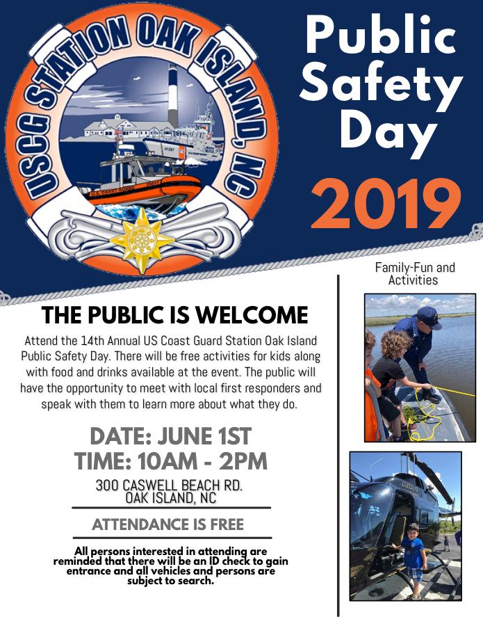 Media Availability: Coast Guard, partner agencies to hold free, public safety event on Oak Island, NC