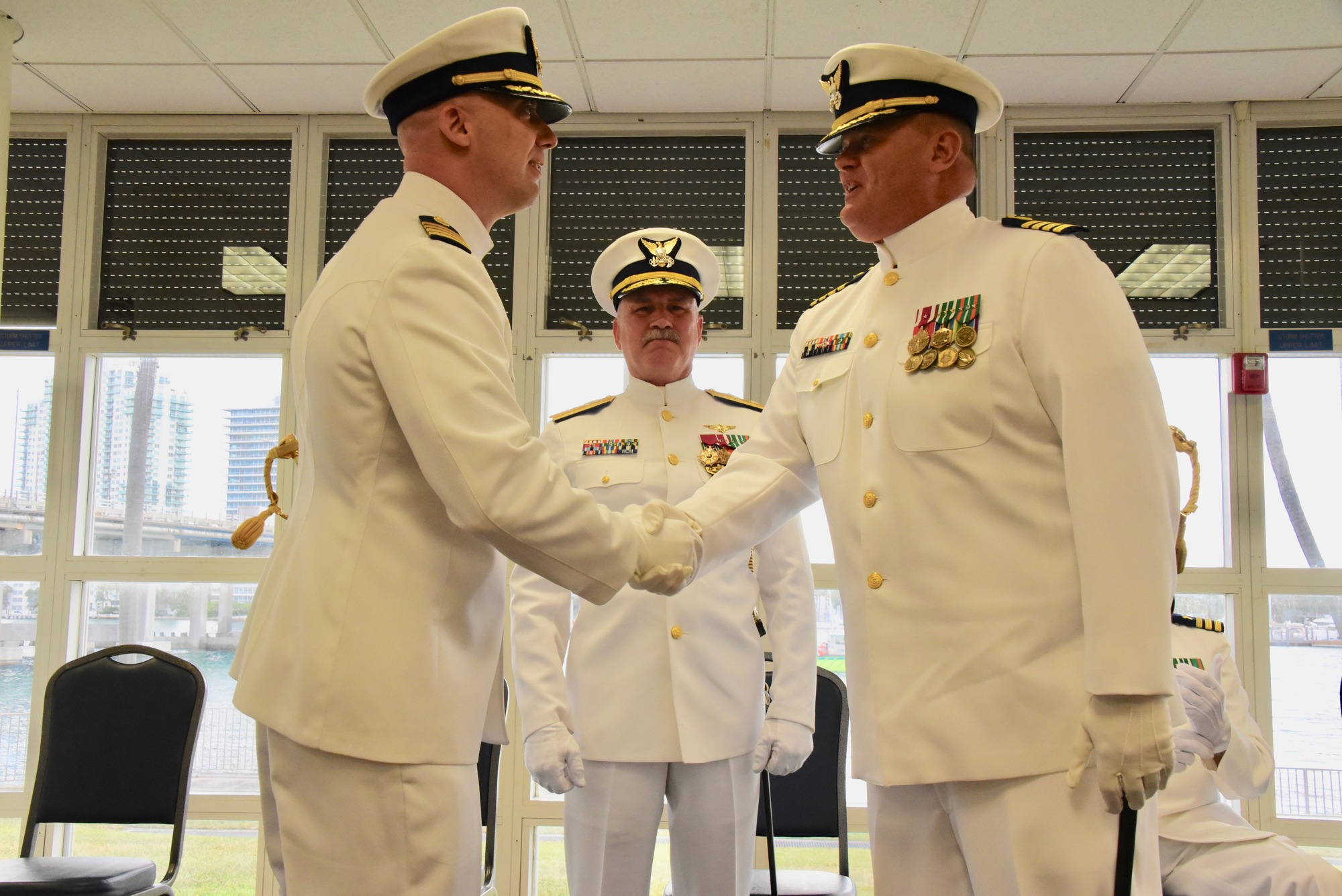 PHOTO RELEASE: Coast Guard Base Miami Beach holds change-of-command ceremony