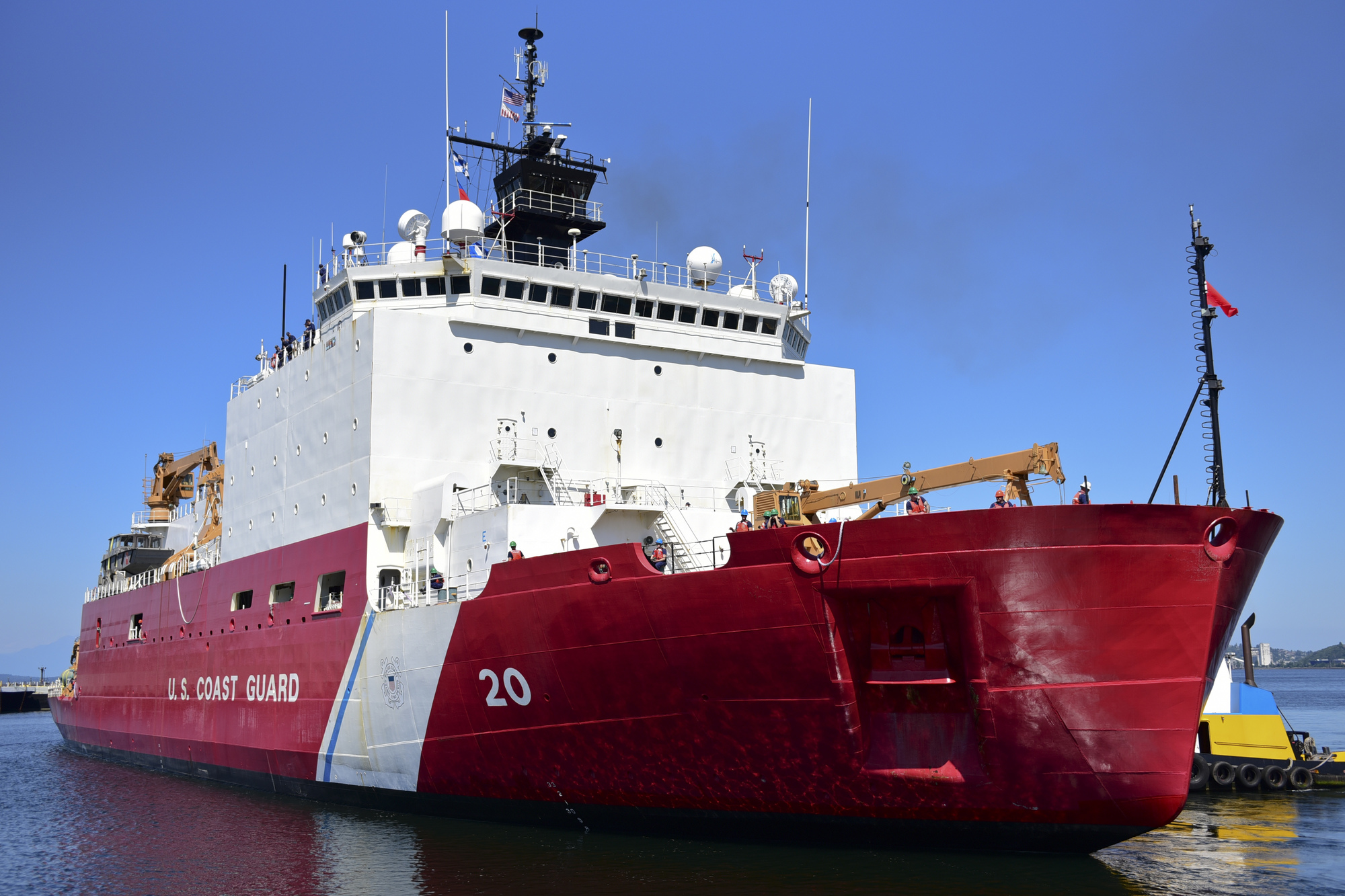 Coast Guard Cutter Healy gets underway for months-long Arctic patrol