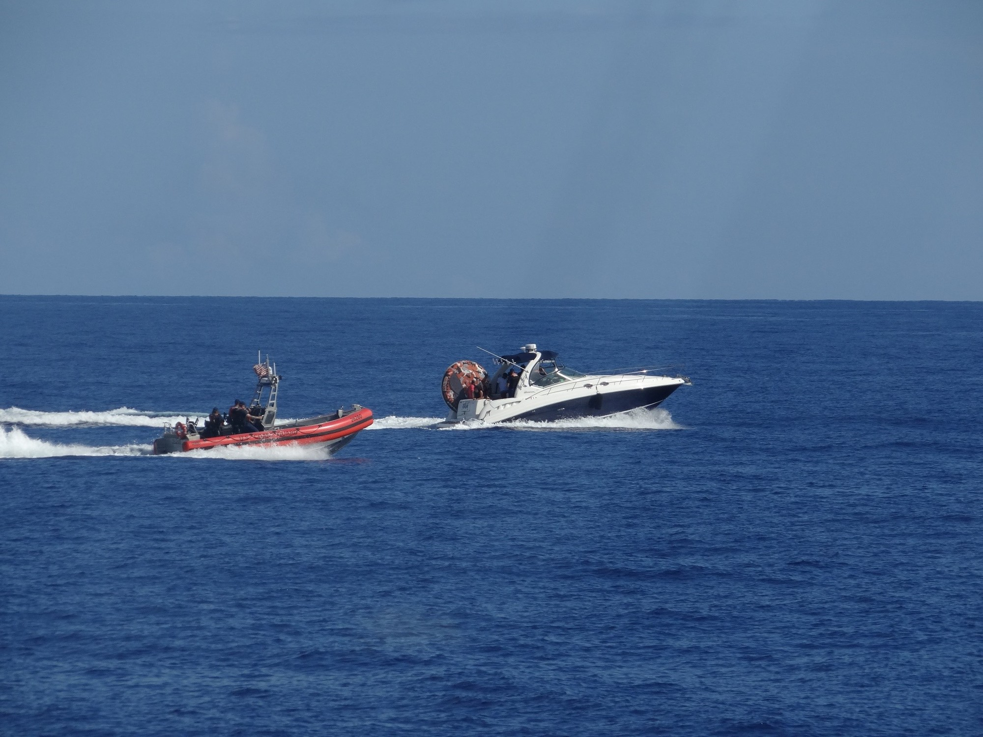 PHOTO RELEASE: Coast Guard interdicts 4 migrants, 2 suspected smugglers 30 miles east of Hollywood