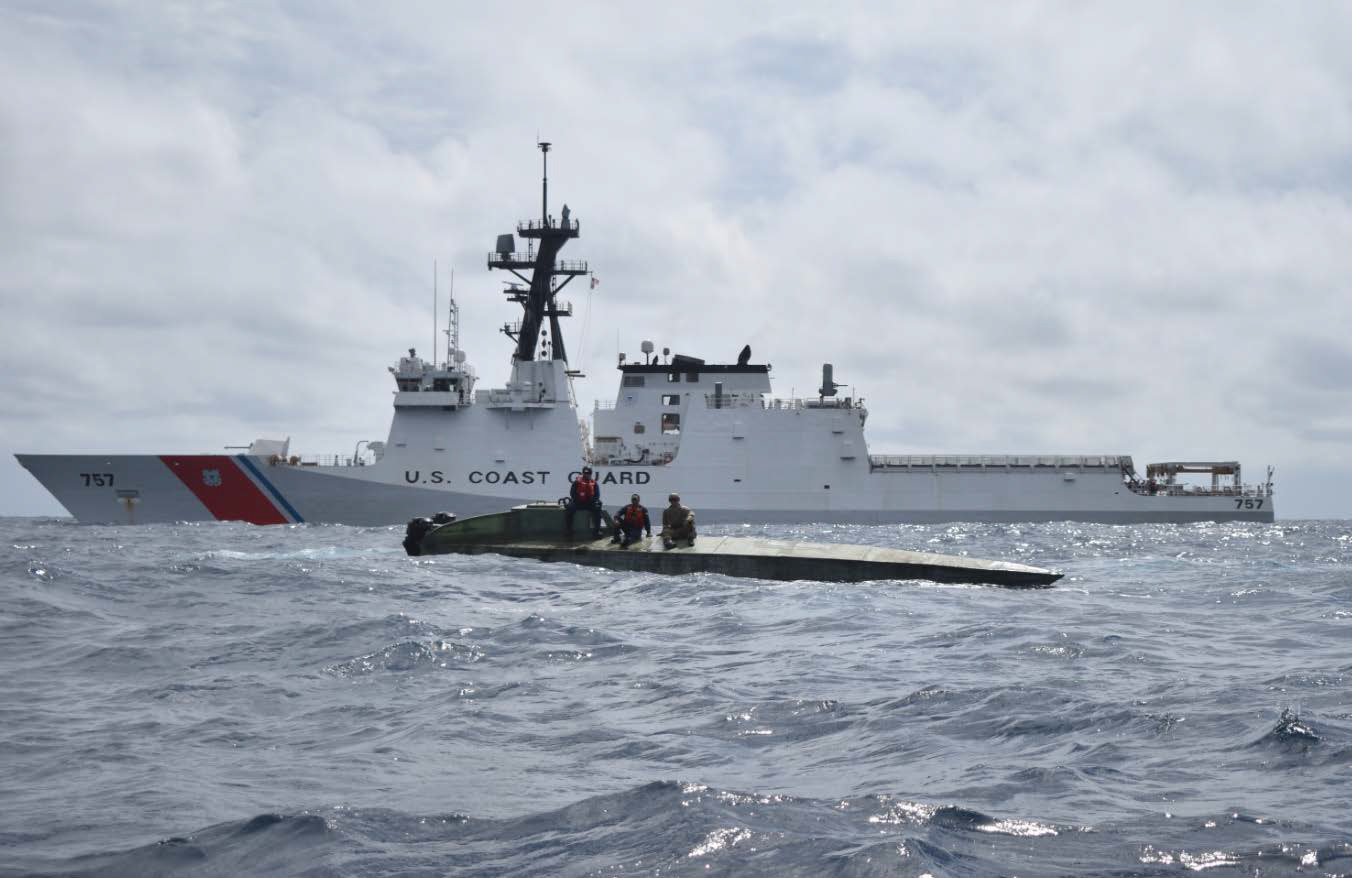 Coast Guard's newest national security cutter seizes more than 2,100 pounds of cocaine