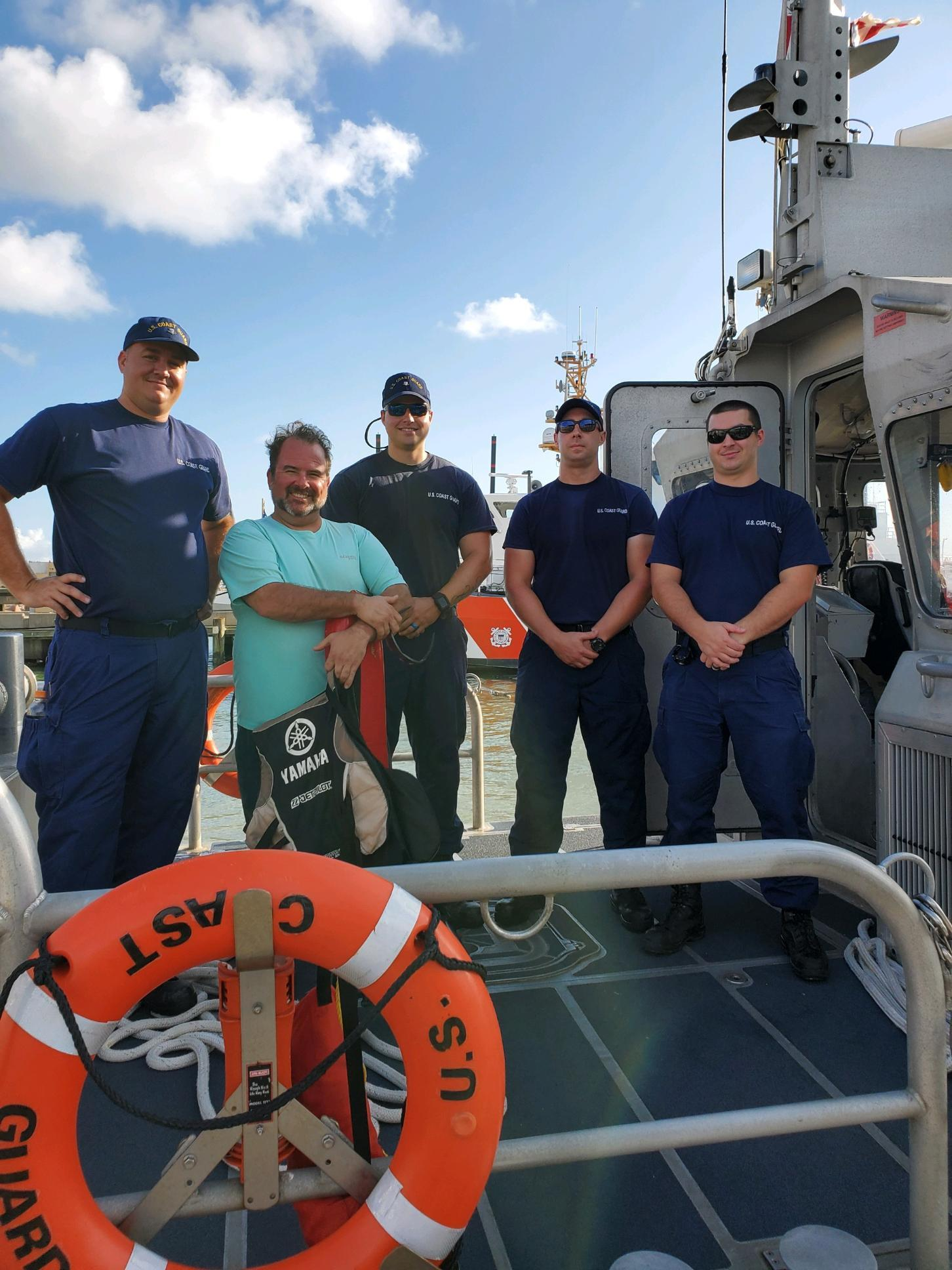 PHOTOS AVAILABLE: Coast Guard rescues person in the water near Crystal Beach, Texas