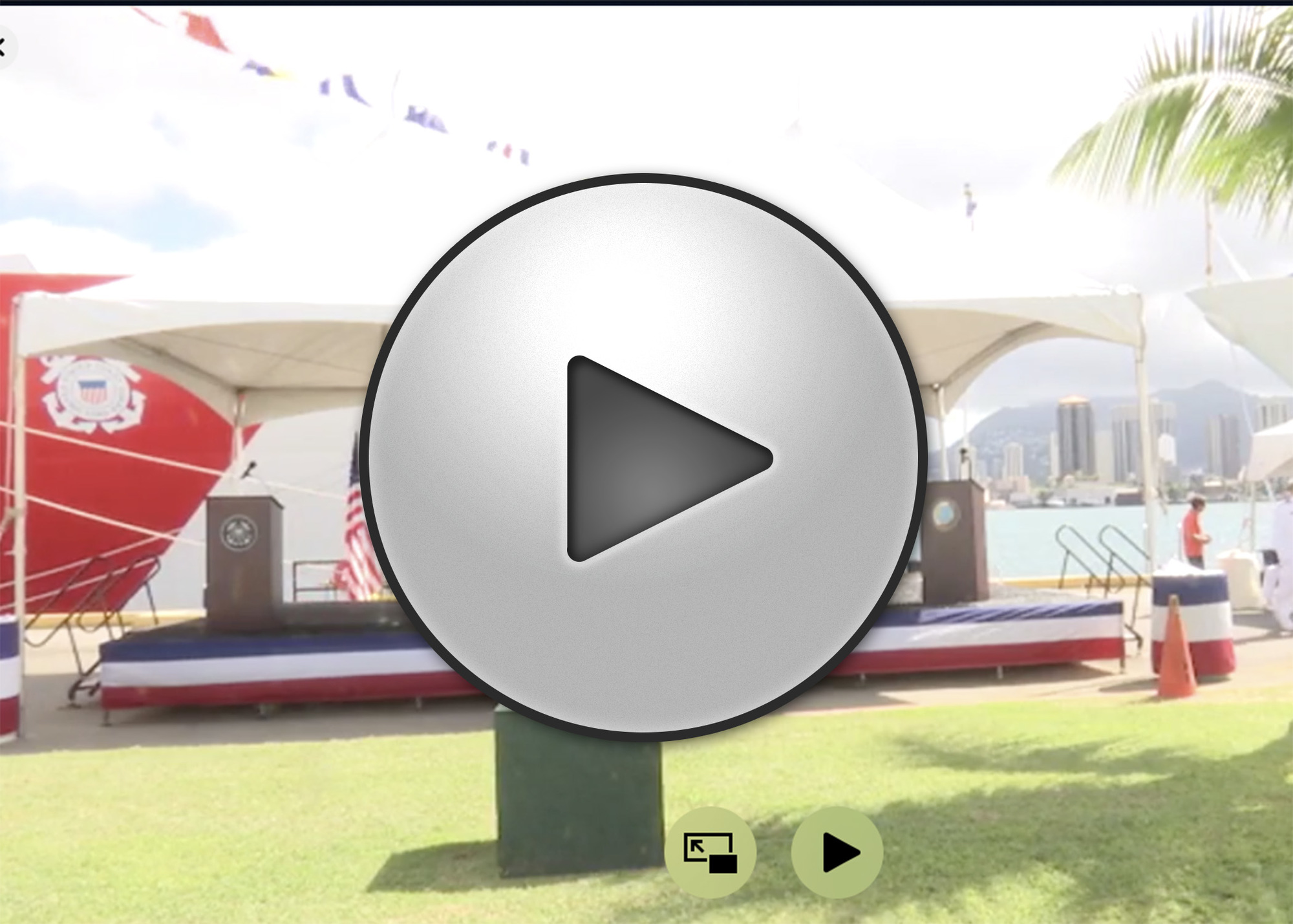WEBCAST: COAST GUARD DUAL CUTTER COMMISSIONING CEREMONY