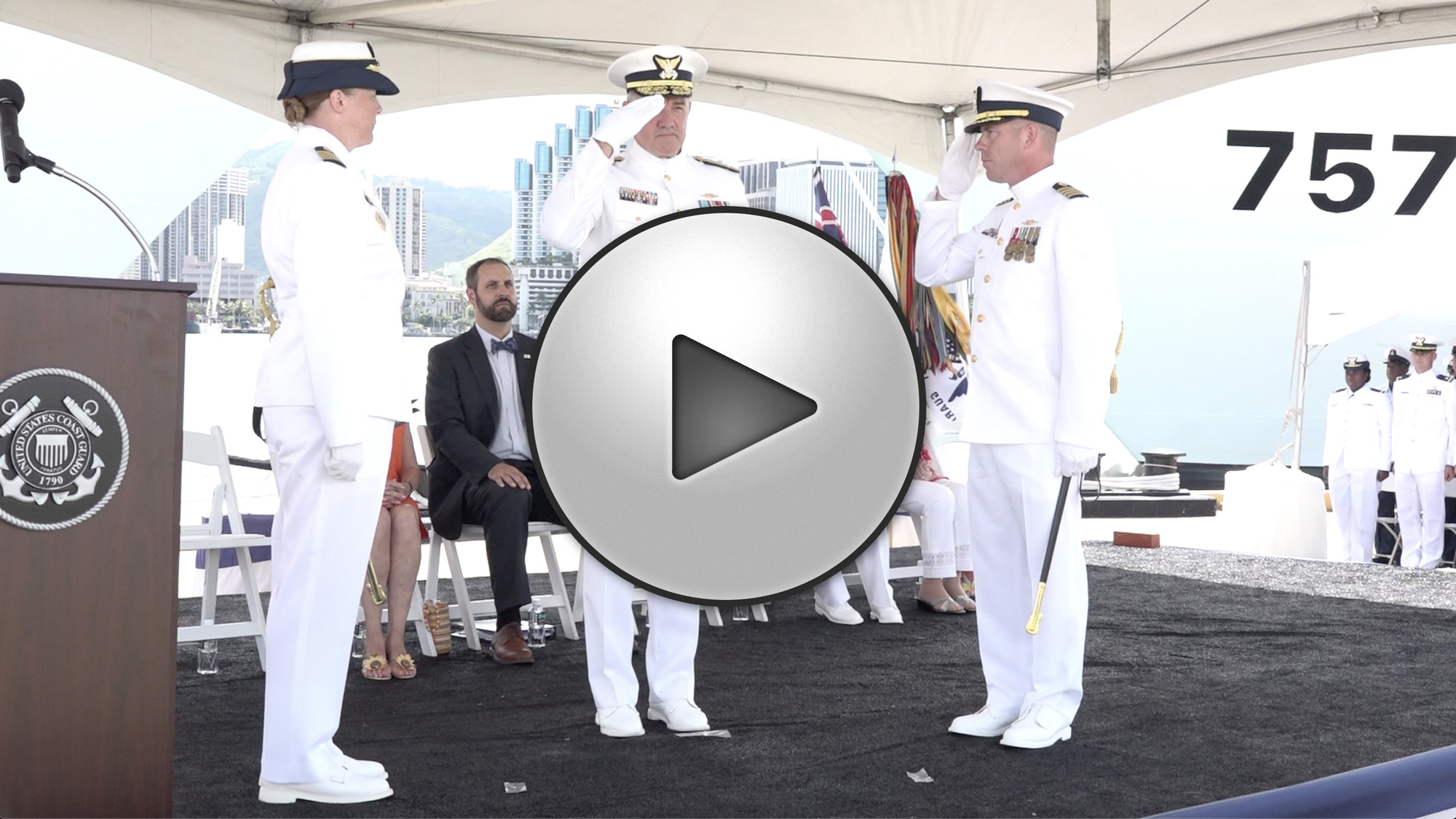 B-roll: Coast Guard commissions two new National Security Cutters in Hawaii