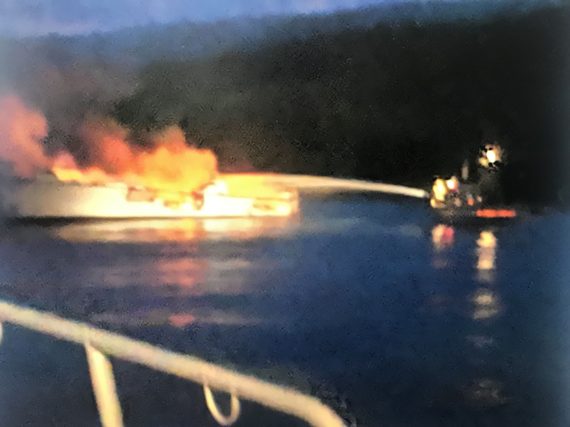 Coast Guard, locals respond to boat fire near Santa Cruz Island