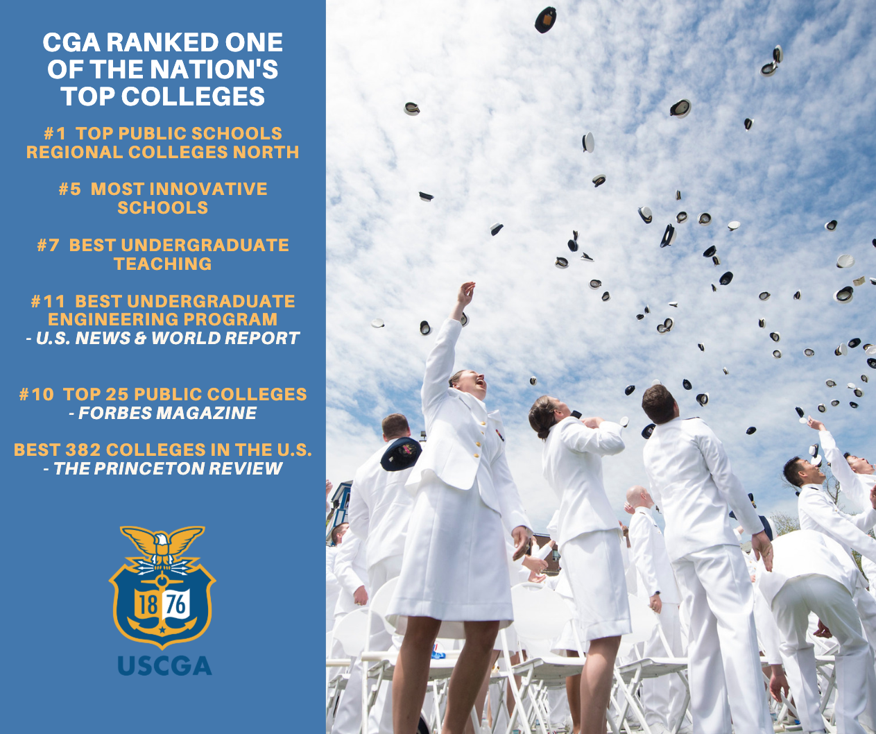 Coast Guard Academy ranked on of the nation's top colleges