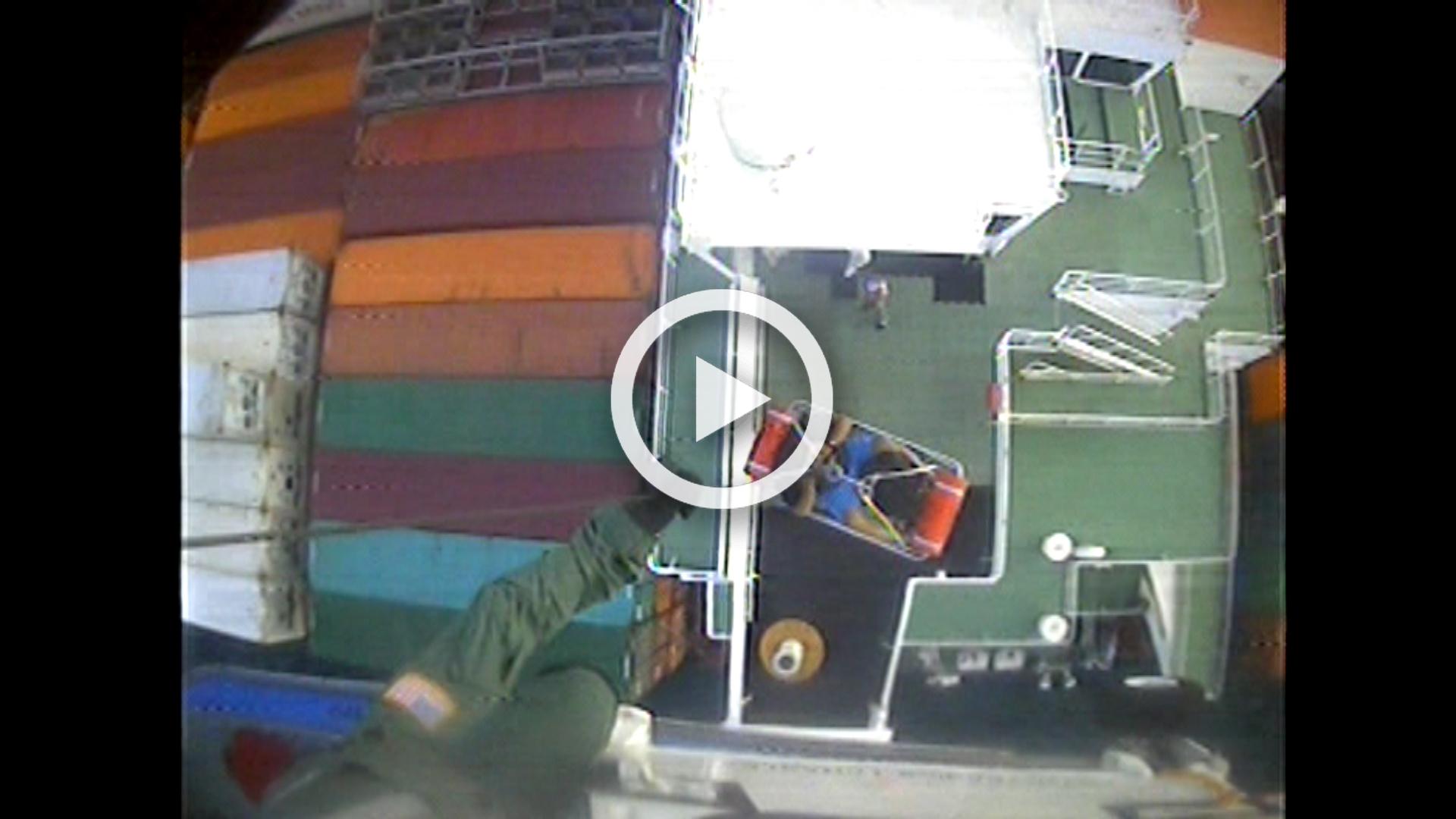 VIDEO RELEASE: Coast Guard medevacs man 24 miles east of Tybee Island