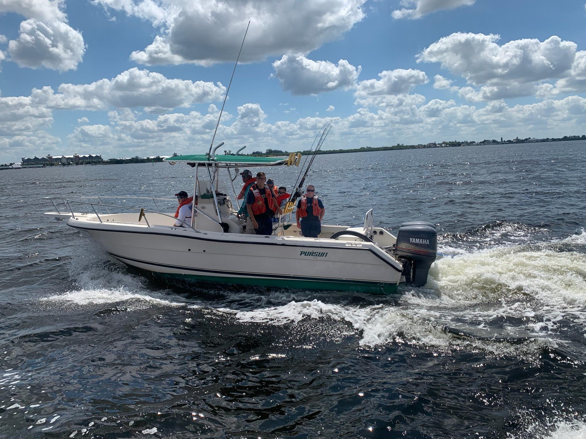 PHOTO RELEASE: Coast Guard assists 5 near Tampa Bay Skyway Bridge