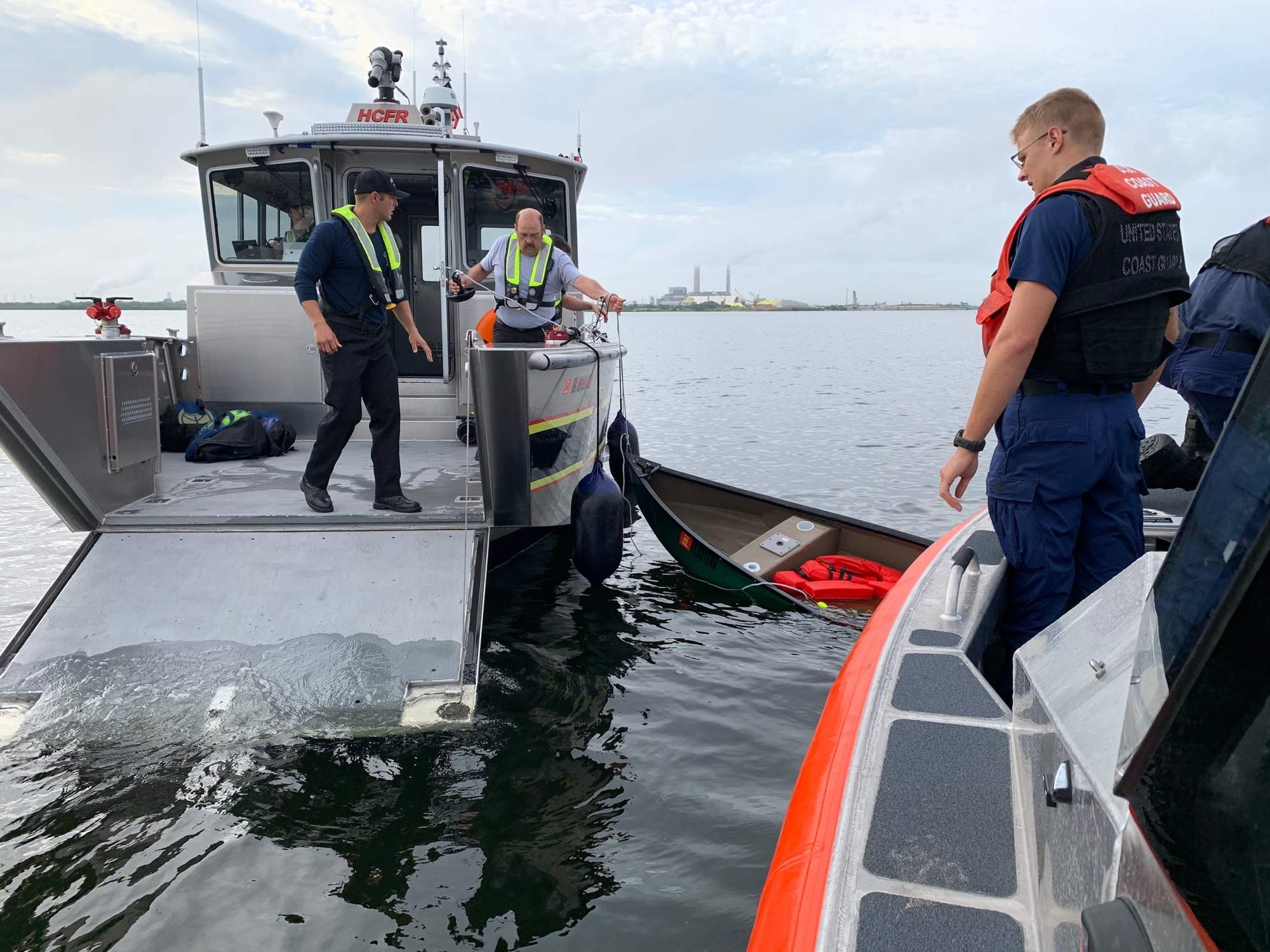 Coast Guard rescues two from capsized canoe in Apollo Beach, Florida