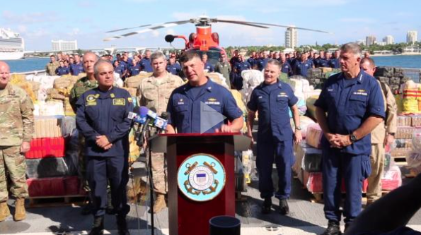 MULTIMEDIA RELEASE: Coast Guard Cutter James to offload 28,000 pounds of cocaine, 11,000 pounds of marijuana at Port Everglades