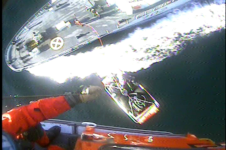 Video Available: Coast Guard medevacs Canadian sailor in Puget Sound