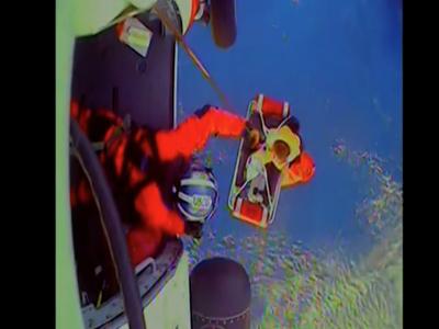 Coast Guard hoists man from Sailing vessels