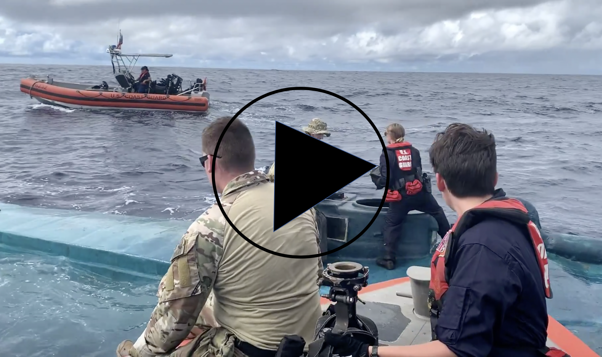 VIDEO: Coast Guard Cutter Bertholf crews interdict suspected drug-smuggling vessel in Eastern Pacific Ocean