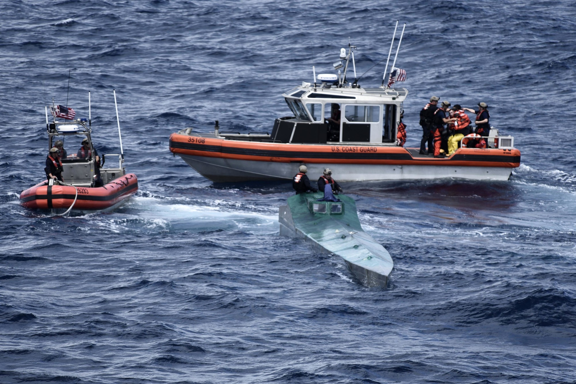 Coast Guard Cutter Bertholf crews interdict suspected drug-smuggling vessel in Eastern Pacific Ocean