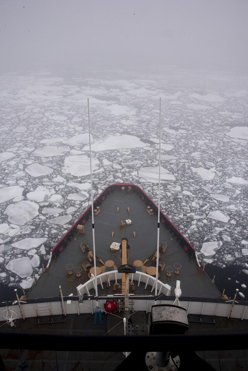 United States' lone heavy icebreaker enters Antarctic ice