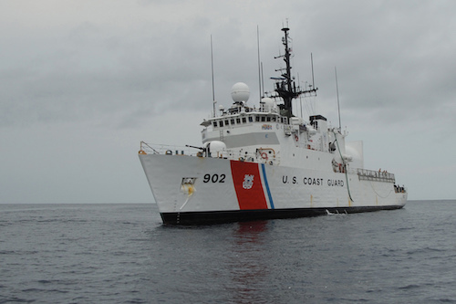 Coast Guard Cutter Tampa returns home after interdicting $154 million in drugs.