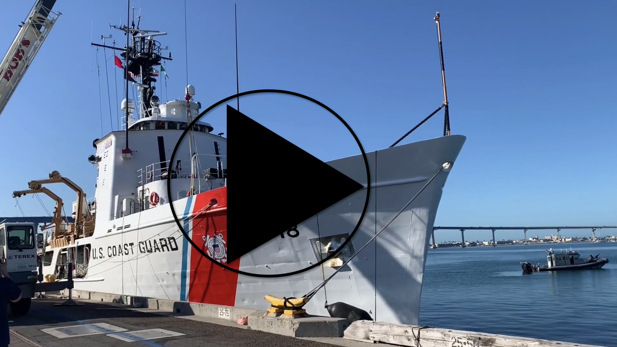 Coast Guard Cutter Active offloads seized contraband in San Diego